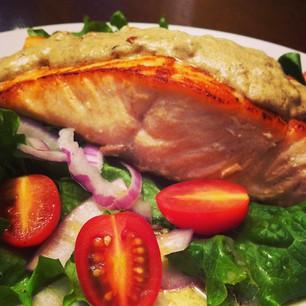 Pan Seared Salmon with Dijon Cream
