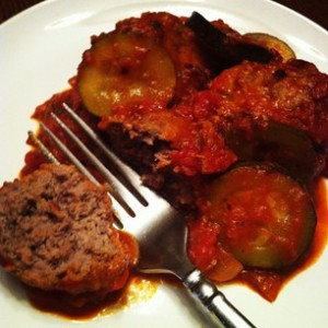 Turkey & Beef meatballs with Zucchini in a Marinara Sauce
