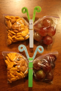 Skip the crackers and put some vegetables in there. I'm not big on plastic bags but this is darn cute!