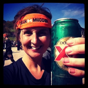 Me & my rewards - a beer and the orange headband.