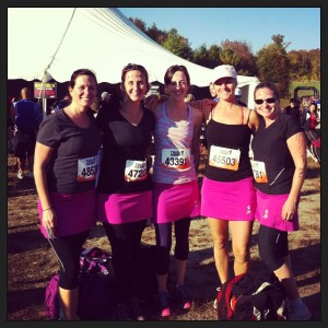 Team Dirty Skirts pre-Mudder.