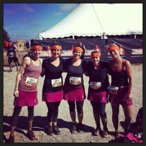 Team Dirty Skirts post Mudder.  Much dirtier.