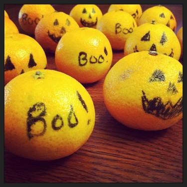 Clementine Jack 'o Lanterns for Hallowe'en