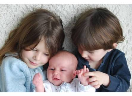 My three little ones back when Maggie was first born.