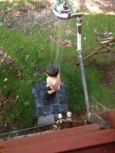 A Boy & His Shower.